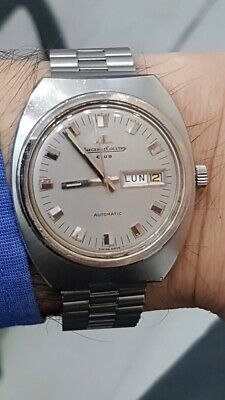 Rare Jaeger Lecoultre Club watch in stainless steel case & bracelet Circa 1970