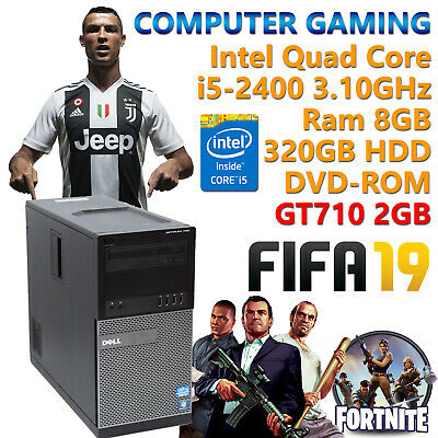 PC COMPUTER FISSO DA GIOCO GAMING QUAD CORE i5 RAM 8GB NVIDIA GT710 2GB + WIFI!