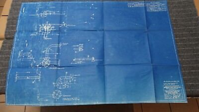 "(E135R) Original 1917 Blueprint Drwg 26"" x 39"" - By-Pass Connection"