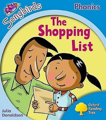 """AS NEW"" Oxford Reading Tree: Level 3: Songbirds: The Shopping List, Donaldson,"