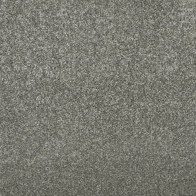 Mid Grey Budget Saxony Carpet Felt Backing Flecked Hard Wearing Bedroom Cheap