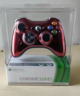 Controller Wireless Chrome Red  Xbox 360 Originale Microsoft Nuovo Sigillato