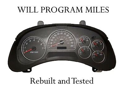 2003 2004 GMC Chevy Speedometer Instrument Cluster Dash 15190830 MT *Any miles*