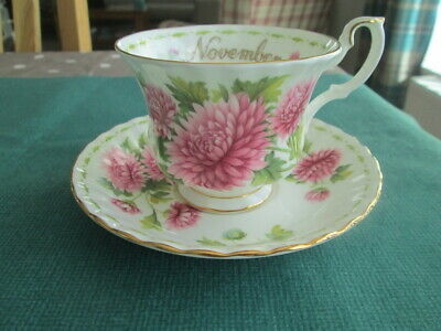 Royal Albert Flower Of The Month November Tea Cup & Saucer Made In England