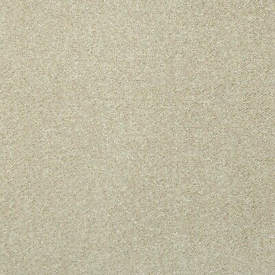 Beige Budget Saxony Carpet Felt Backing Flecked Hard Wearing Bedroom Cheap