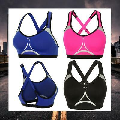Puma Womens Power Shape Control Bra Moulded Support Gym Bralet 515423-01/02/03