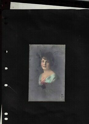 """1923 Picture Post Card sent from Sonneberg - signed """"infla Berlin"""""""