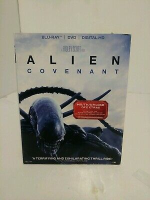 Alien Covenant Blu-ray + DVD with Slipcover