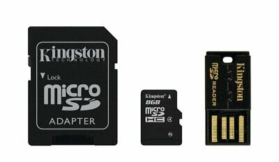 Kingston MBLY4G2/8GB - Tarjeta microSD de 8 GB, negro