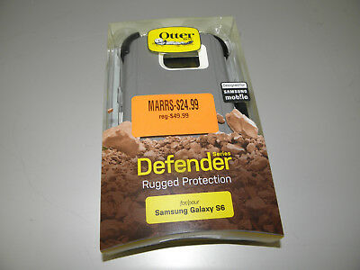 Genuine Otterbox Defender For Samsung Galaxy S6 Casual Gray New
