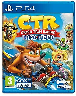 Crash Team Racing Nitro-Fueled Ps4 Gioco Play Station 4 Italiano Bandicoot Kart