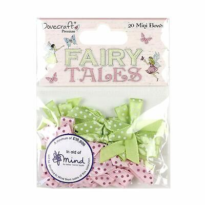 CLEARANCE 20 FAIRY TALES Ribbon Bows Card Making Scrapbook Craft Embellishments
