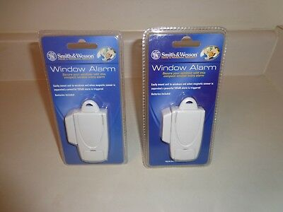 2 Smith & Wesson Home Security Window Alarms 105db