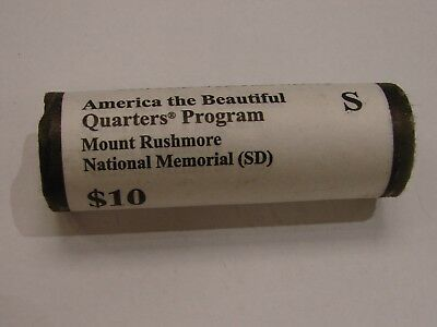 2013 S Mount Rushmore National Park (SD) $10 Quarter Roll -Original Mint Wrapped