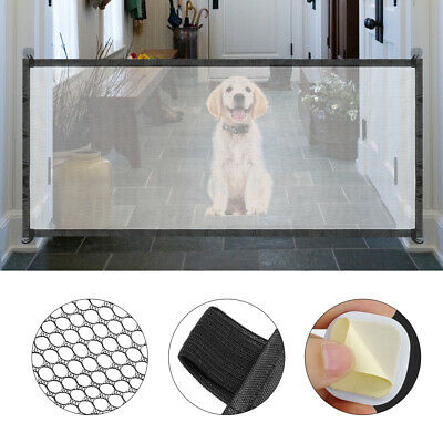Magic Mesh Pet Dog Gate Door 6ft Barrier Safe Guard Fence Enclosure Easy Install