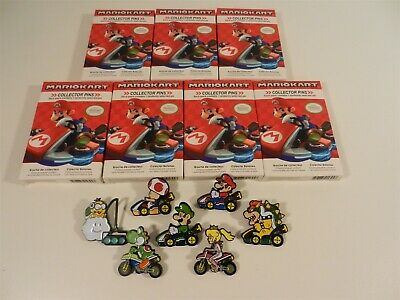 Set of 7 Nintendo Super Mario Kart Series 2 Collector Pins