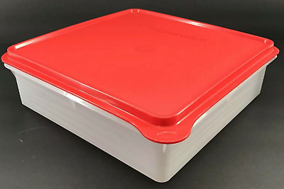 New Tupperware Snack N Store Sheer Base with Red Seal New