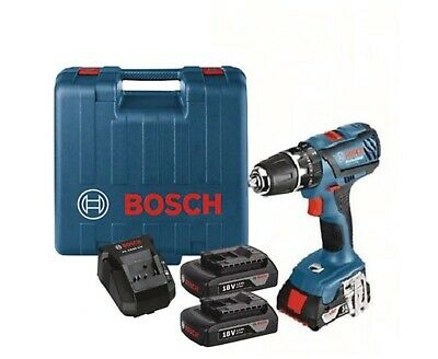 Bosch GSB18-2VLI combi drill kit with 2 x 1.5Ah batteries and charger - New