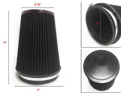 """RED 4 Inches 4/"""" Inlet 102mm Cold Air Intake Cone TRUCK FILTER For Mitsubishi"""
