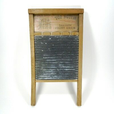 Vintage Antique National Washboard Co. # 701 Washboard The Zinc King Top Notch