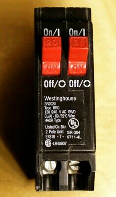 Awe Inspiring Eaton Bryant Westinghouse Br 20 Amp 2 Pole Tandem Circuit Breaker Wiring Cloud Hisonuggs Outletorg