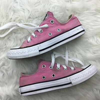 f6af161a6b227a GIRLS PINK CONVERSE Low Top Youth Size 11.5 Kids Canvas All Star ...