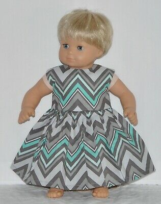 Gray Zig Zag Dress For American Girl Doll Clothes Bitty Baby