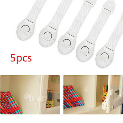 5pcs Toddler Baby Kids Safety Lock Proof Cabinet Drawer Fridge Cupboard Door HOT