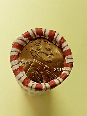 2018 P Lincoln Cent Roll Philadelphia Mint Bank Wrapped Usearched