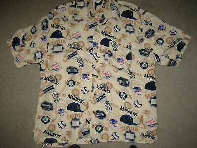 34ae8ef0 SEATTLE MARINERS HAWAIIAN Shirt Classic Mariner's Tradition Reyn ...