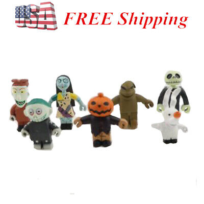 Nightmare Before Christmas Playset 6 Figure Cake Topper USA SELLER* Toy Set