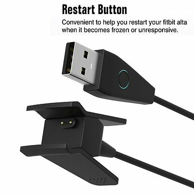 USB Charging Wire Cable Cord Charger for Fitbit Alta WristBand with Reset Button