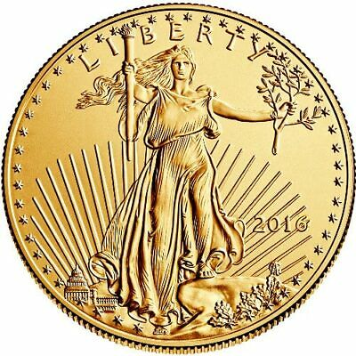 2016 American Gold Eagle 1/10th oz Coin New in Protective Case $5 BU Rare Date