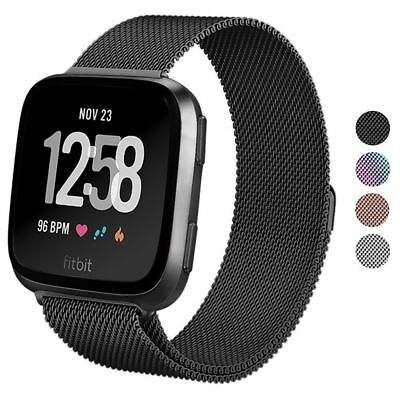 For Fitbit Versa Fitness Smart Watch Replacement Milanese Loop Strap Wrist Band
