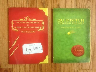 Lot 2 FANTASTIC BEASTS & Where to Find Them & QUIDDITCH Through the Ages Books