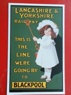 Postcard This Is The Line We're Going By To Blackpool - Lancashire Yorkshire Rai