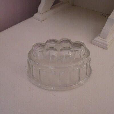 Vintage clear glass oval jelly mould