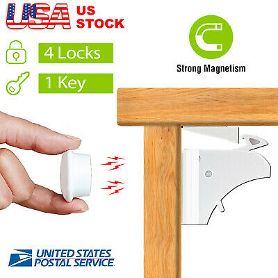 4 x Baby Magnetic Cabinet  Locks Drawer Cupboard Safety Proofing for Kids Child