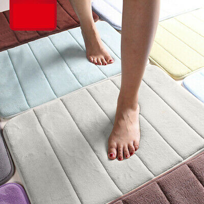 Absorbent Memory Foam Carpet Bath Bathroom Bedroom Floor Shower Mat Rug Non-slip