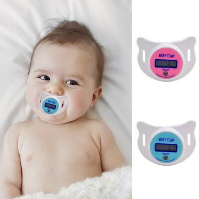 Baby MouthThermometer Pacifier Nipple Temperature LCD Digital Thermometer Safety