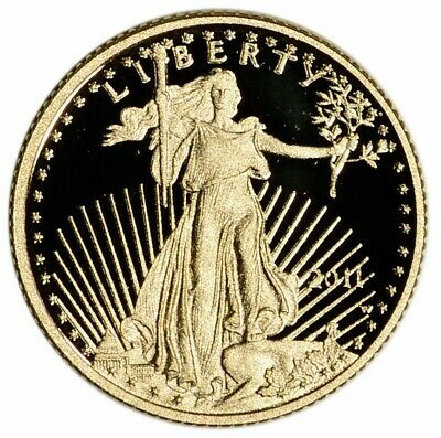 2011-W American Gold Eagle Proof 1/10 oz $5 In Coin Capsule Mint BU