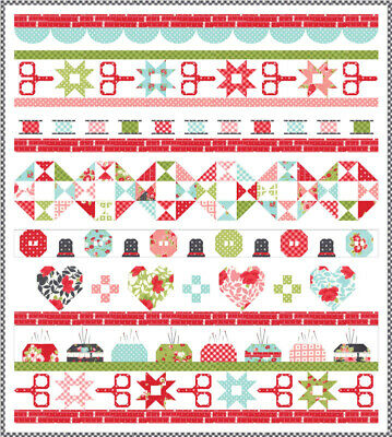 FABRIC Moda QUILT KIT ~ LITTLE SNIPPETS ~ QUILT DAY ~ by Bonnie & Camille