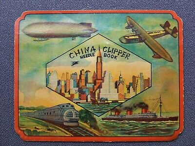 """Vintage Needle Case Collectable """"China Clipper"""""""