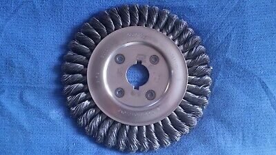"8""X1/2""X1 1/4""ARBOR KNOTTED WIRE WHEEL 8000 rpm OSBORN BRAND 26855 USA"