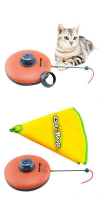 Fun 1.5V Pet Cat Meow Electronic Undercover Fabric Moving Mouse Cat's Toy Health
