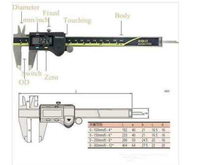 "Mitutoyo 500-196-20//30 15mm//6/"" Absolute Digital Digimatic Vernier Caliper"