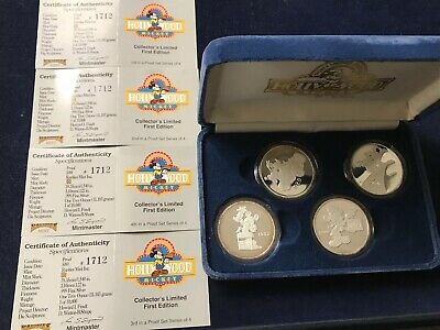 1989 Disney Studios Hollywood Mickey Opening 1 oz. .999 Silver Proof 4 Coin Set