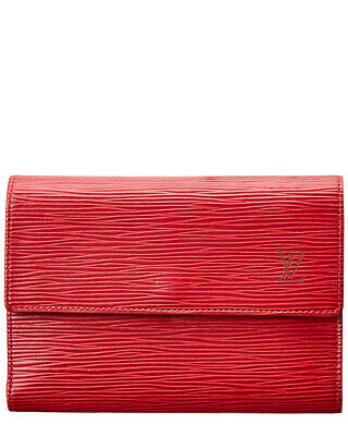 d822f9515f0d Louis Vuitton Womens Red Epi Leather Porte-Tresor Etui Papier Wallet