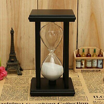 Retro Wooden Frame Glass Sand Sandglass Hourglass Timer Clock Office Time Decor