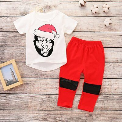 2pcs Toddler Kids Baby Boy T-shirt Tops+Pants Trousers Summer Outfit Clothes Set